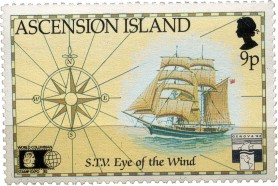 Eye of the Wind stamp from Ascension Island