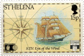 St Helena stamp of the Eye of the Wind