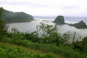 The crater lake of Tikopia